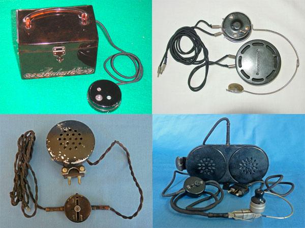 Historia de los audífonos para sordos micrófonos de carbono